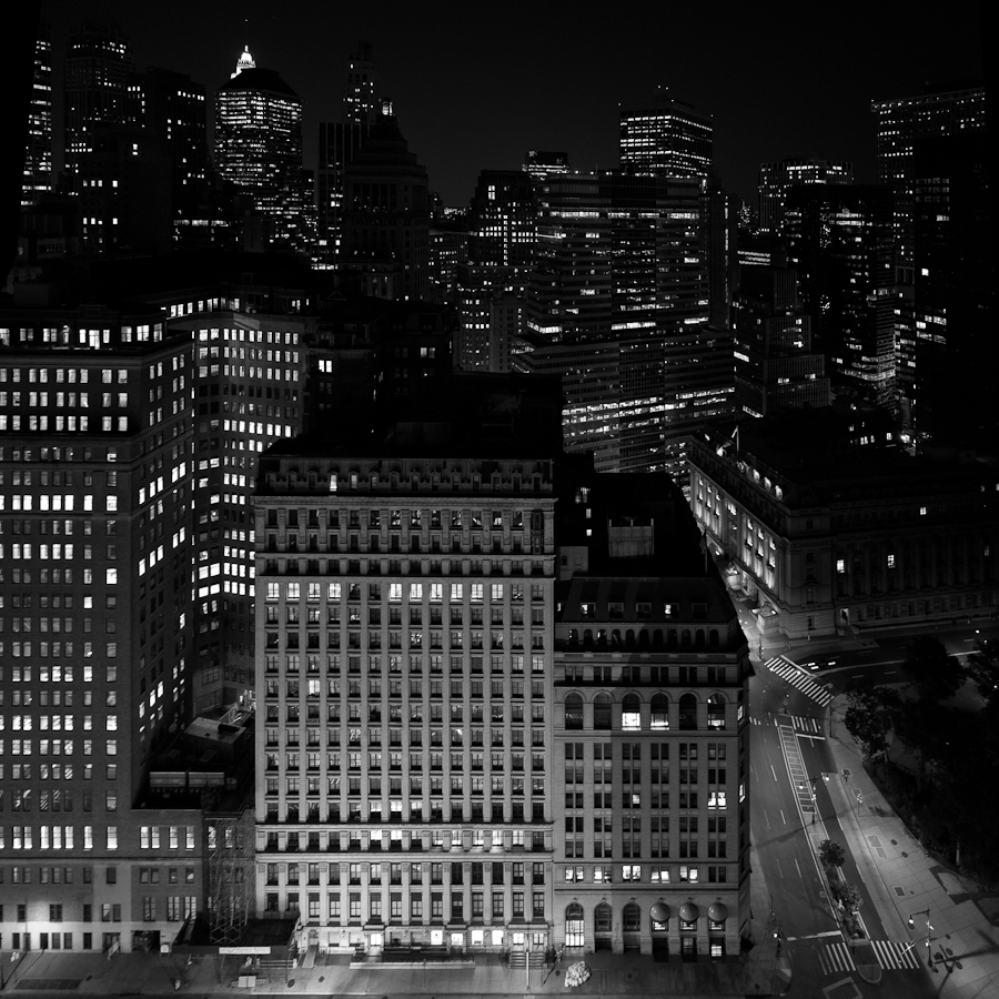 New York Financial District at Night