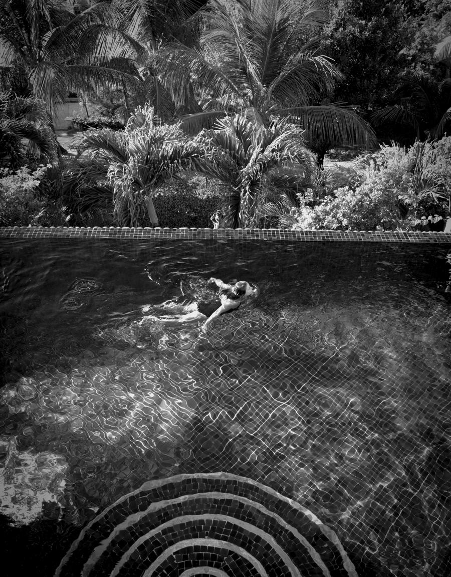 Maria swims some laps